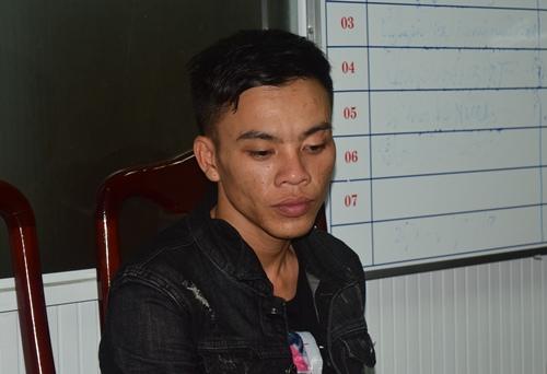 Trần Phú Bình tại cơ quan điều tra. Ảnh: Mạnh Hùng