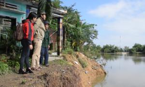 Sạt lở bờ sông ảnh hưởng 100 hộ dân ở Quảng Nam