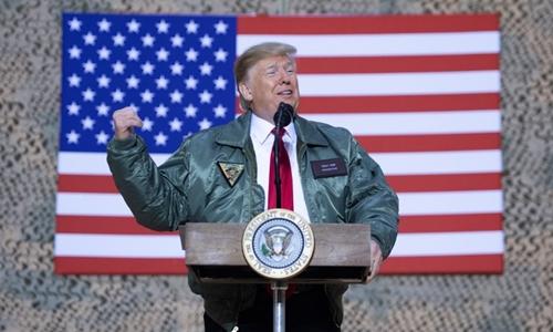 Tổng thống Mỹ Trump tại Iraq ngày 26/12. Ảnh: AFP.