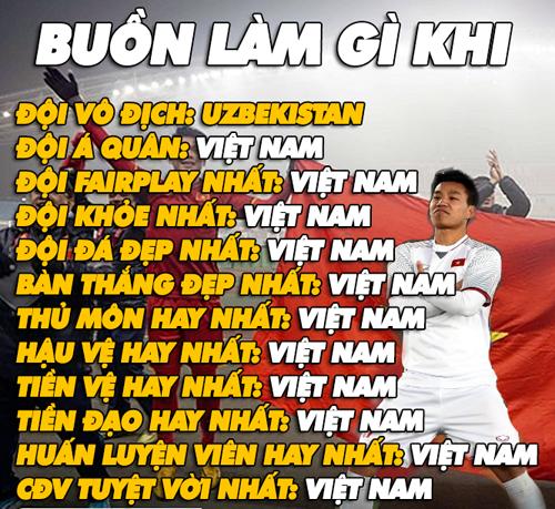 Ngoài chức vô địch, các danh hiệu còn lại đều thuộc về U23 Việt Nam.