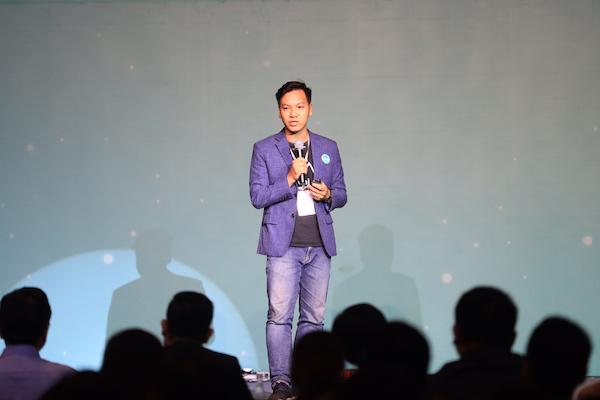 Lê Hoàng Nhật - đồng sáng lập Ami thuyết trình về dự án.