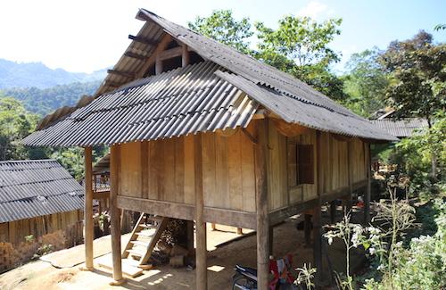 Ngôi nhà của gia đình anh Lương Văn Hồng (xã Chiêu Lưu).