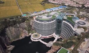 Khách sạn cao cấp sâu 100 m trong lòng mỏ đá