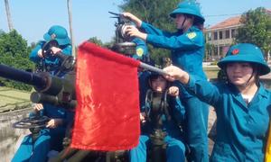 Những nữ chiến sĩ pháo phòng không ở Quảng Bình