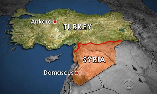 Thổ Nhĩ Kỳ có chung đường biên giới trên bộ khá dài với Syria. Đồ họa: ABC.