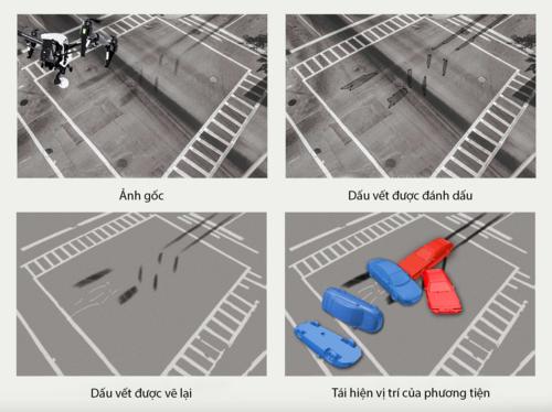 UAV giúp tái dựng hiện trường vụ tai nạn bằng công nghệ 3D mapping. Ảnh: Dronefly.