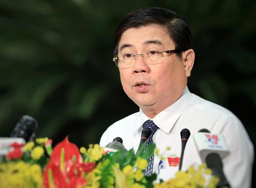 Chủ tịch UBND TP HCM Nguyễn Thành Phong. Ảnh: Hữu Khoa