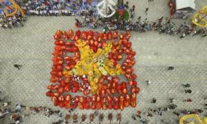 108 con lân đồng diễn lập kỷ lục Guinness tại Sài Gòn