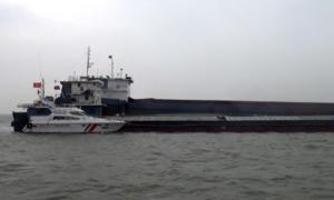 500 tấn than lậu bị bắt trên biển tại Quảng Ninh
