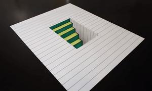 Dạy trẻ vẽ chiếc hố 3D hút mắt trên trang giấy