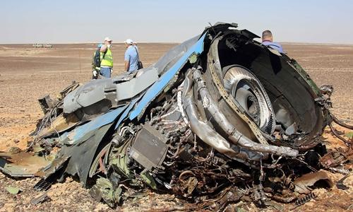 Mảnh vỡ của máy bay Nga rơi năm 2015. Ảnh: Reuters.