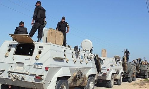 Lực lượng an ninh tại Bắc Sinai. Ảnh: egypttoday.