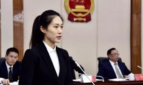 Yuan Lin, nữ phó thị trưởng 28 tuổi của thị xã Phúc Thanh, thành phố Phúc Châu, tỉnh Phúc Kiến, Trung Quốc. Ảnh: SCMP.
