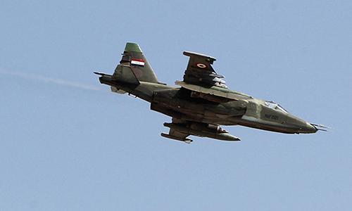 Cường kích Su-25 của không quân Iraq. Ảnh: AFP.