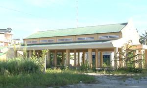 Chợ nông thôn mới tiền tỷ ở Quảng Ngãi xây xong rồi bỏ không