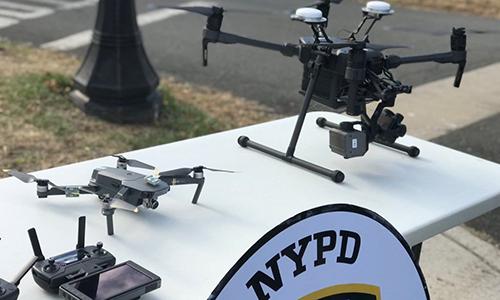 Máy bay không người lái (UAV) của cảnh sát New York. Ảnh: NYPD.