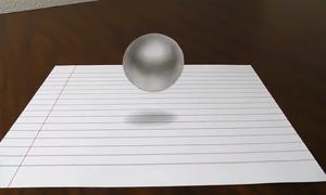 Vẽ quả bóng 3D bay lơ lửng