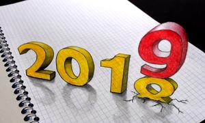 Vẽ 3D đón năm mới 2019