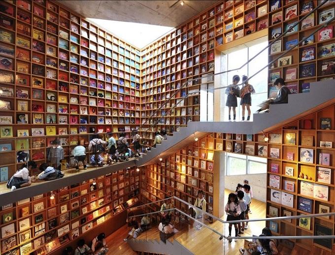 Thư viện ven biển dành cho trẻ em Nhật Bản