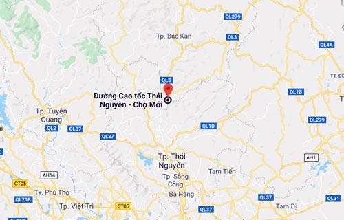 Vị trí vụ tai nạn cách TP Thái Nguyên gần 40km và TP Bắc Kạn 45km.