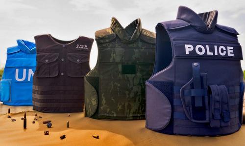 Một số mẫu áo chống đạn bằng vật liệu Kevlar ngày nay. Ảnh: Mars Armor.