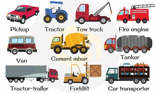 Từ vựng chỉ các loại xe tải trong tiếng Anh