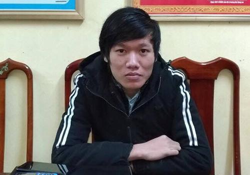 Trần Kim Hùng tại cơ quan điều tra.