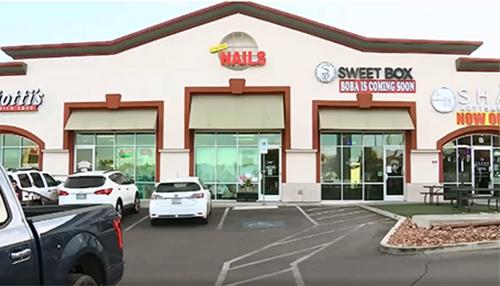 Tiệm nail Crystal Nails & Spa ở thành phố Las Vegas. Ảnh: Fox6now