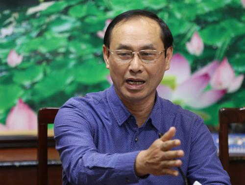 Thứ trưởng Bộ Giao thông Lê Đình Thọ tại buổi họp báo. Ảnh: Quỳnh Trần.