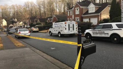 Khu vực xảy ra sự cố được phong tỏa ở hạt Gwinnett, bang Georgia. Ảnh: Twitter.