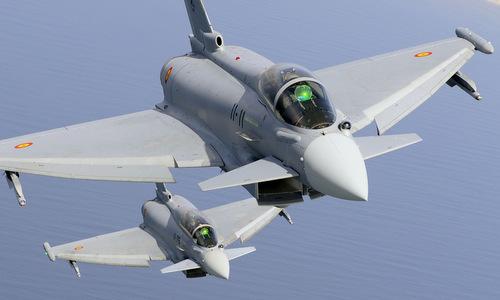 Tiên kích Typhoon trong biên chế không quân Tây Ban Nha. Ảnh: Eurofighter.