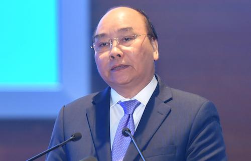 Thủ tướng Nguyễn Xuân Phúc phát biểu sáng 4/1. Ảnh: Gia Chính