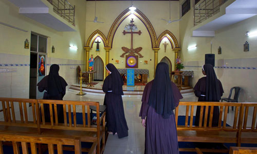 Các xơtại nhà thờ Trái tim Tinh khiết của Đức Mẹ Mary ở Kottayam, bang miền nam Kerala, Ấn Độ. Ảnh: AP.