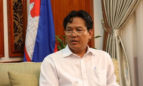 Chủ tịch Viện Hàn lâm Hoàng gia Campuchia Sok Touch. Ảnh: khmertimeskh.