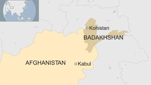 Vị trí tỉnh Badakhshan. Đồ họa: BBC.
