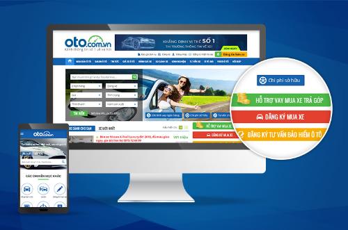 Các tính năng hữu ích hỗ trợ người mua xe ôtô trên website Oto.com.vn