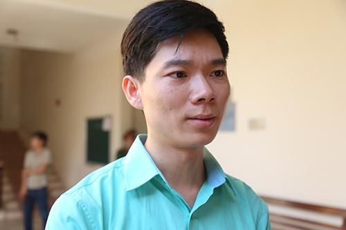 Hoàng Công Lương tại phiên sơ thẩm lần 1. Ảnh: Phạm Dự.