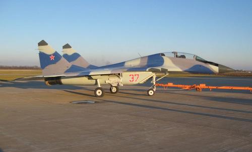 Chiếc MiG-29UB sau khi được đại tu ở Ukraine. Ảnh: Raptor Aviation.