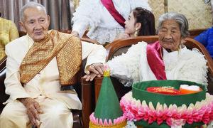 Cụ ông Thái Lan 100 tuổi làm đám cưới với cụ bà 96 tuổi