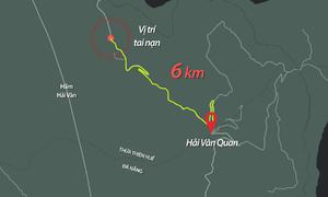 Cú đánh lái khiến xe khách lao xuống vực đèo Hải Vân