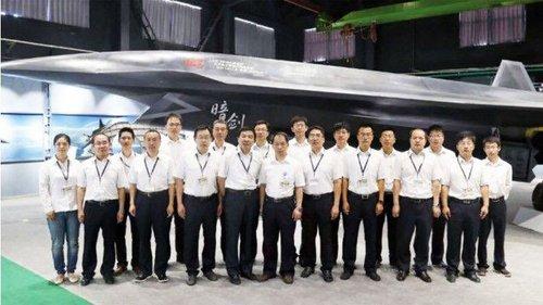 Nguyên mẫu UAV Ám Kiếm trong bức ảnh trên mạng xã hội Trung Quốc. Ảnh: Sina.