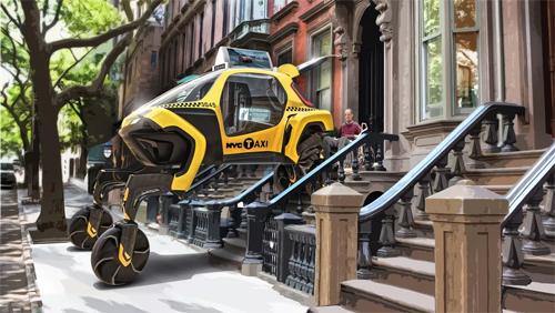 Trong một kịch bản khác, Elevate được sử dụng làm taxi giao đồ và đặc biệt hữu dụng nhờ khả năng leo trèo, nâng hạ chiều cao. Ảnh: Hyundai.