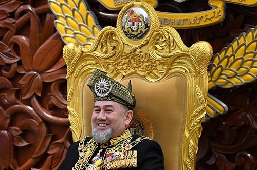 Vua Muhammad V tại Kuala Lumpur tháng 7/2018. Ảnh: NST