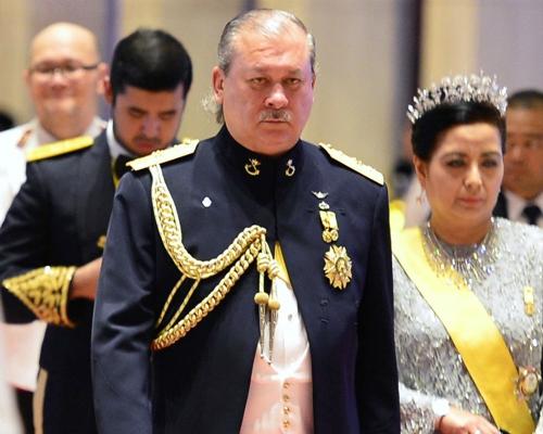Tiểu vương bang Johor Ibrahim Ismail (đi hàng đầu). Ảnh: Reuters.