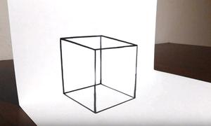 Vẽ khối lập phương trong suốt 3D