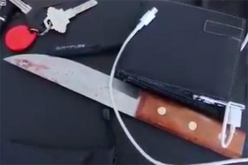 Con dao tìm thấy trong balo của Hoa.
