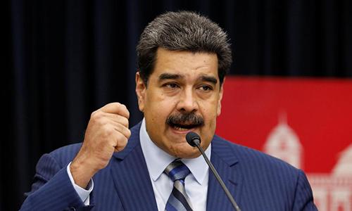 Tổng thống Venezuela phát biểu trong họp báo tại Điện Miraflores ở Caracas, Venezuela hôm 12/12/2018. Ảnh: Reuters.