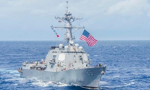 Tàu USS McCampbell của Mỹ. Ảnh: Business Insider.