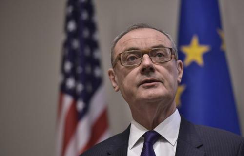Đại sứ EU tại Mỹ David OSullivan. Ảnh: AFP.