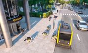 Ý tưởng dùng xe tự lái kết hợp robot chó để giao hàng